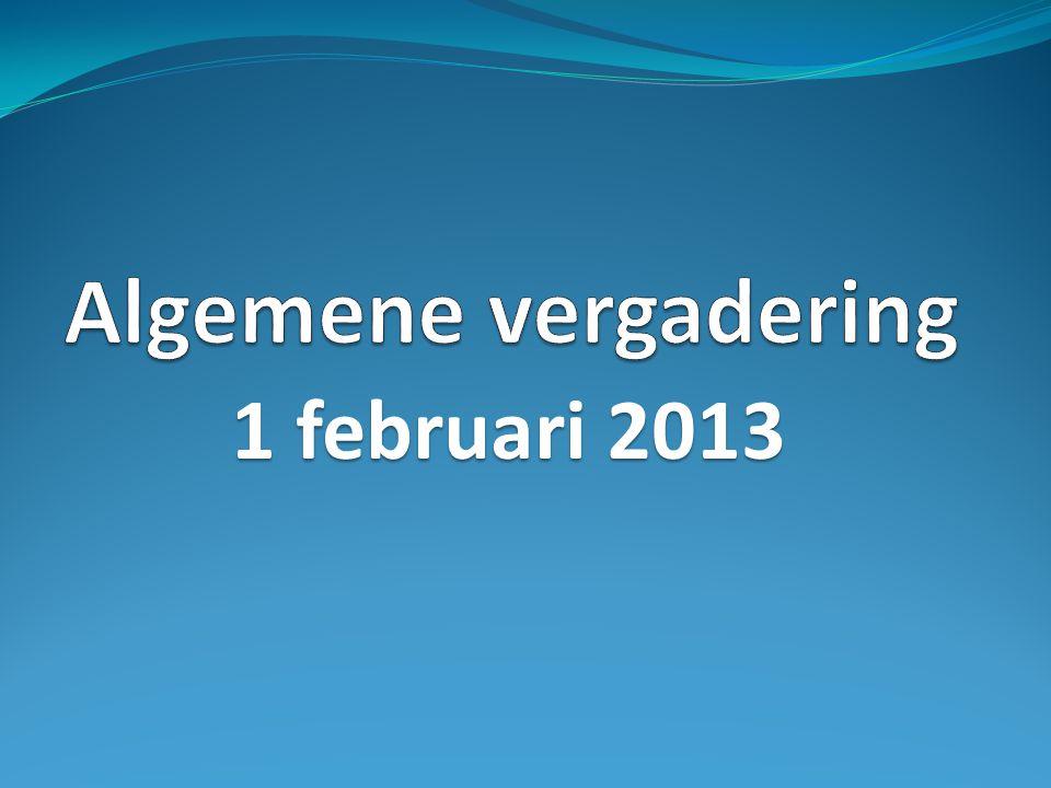 Algemene vergadering 1 februari 2013