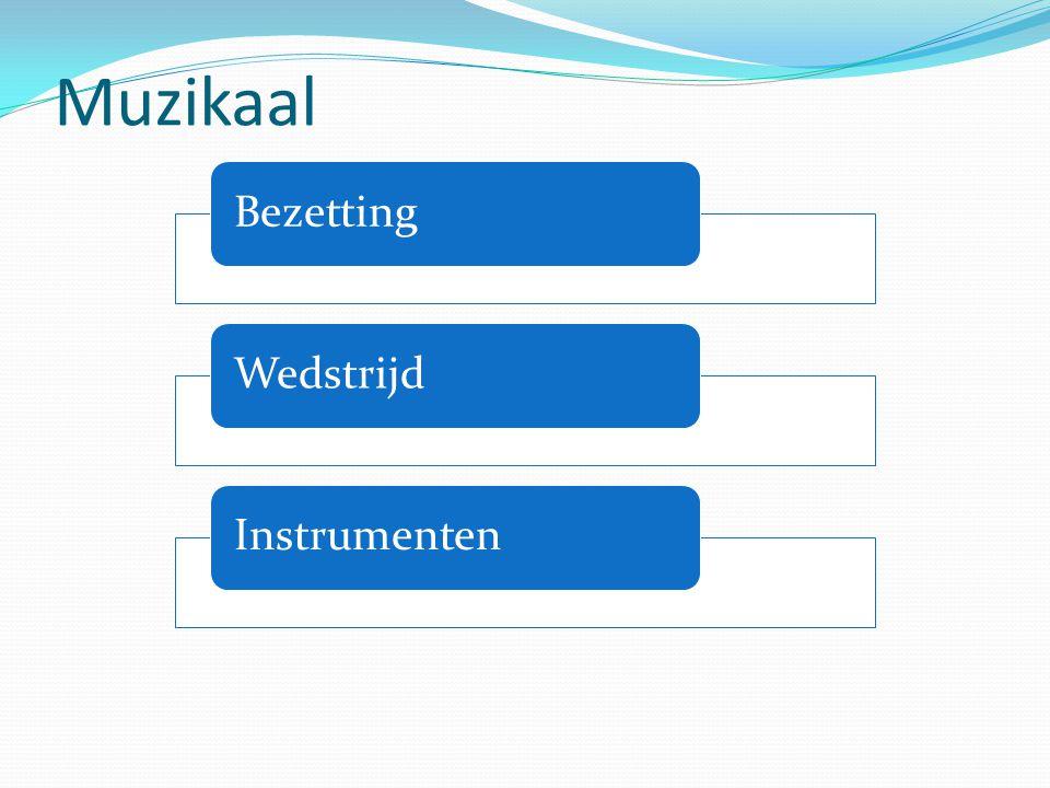 Muzikaal Bezetting Wedstrijd Instrumenten