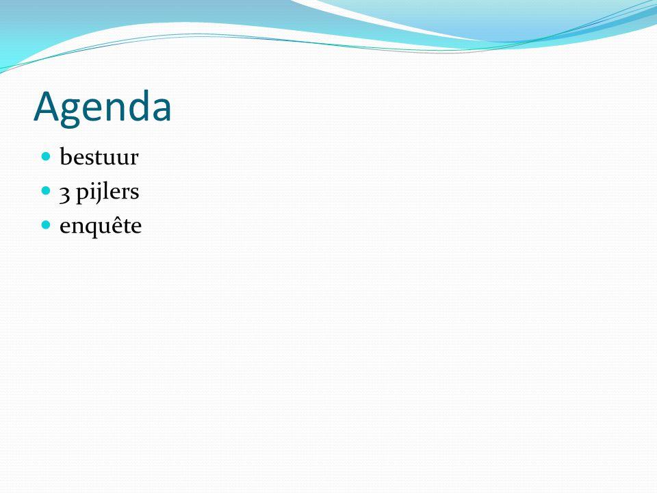 Agenda bestuur 3 pijlers enquête