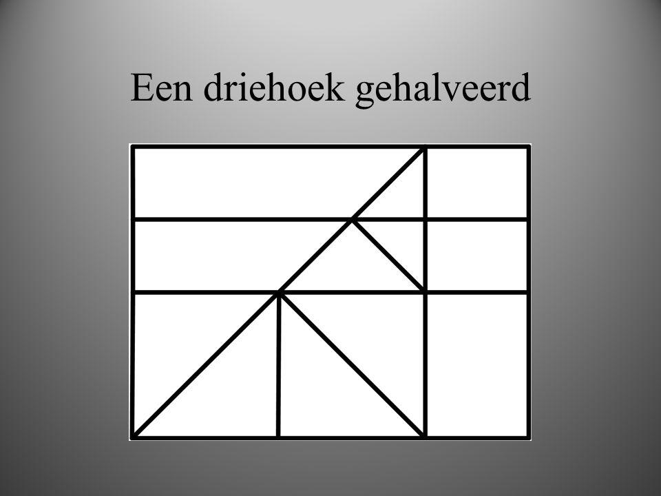 Een driehoek gehalveerd