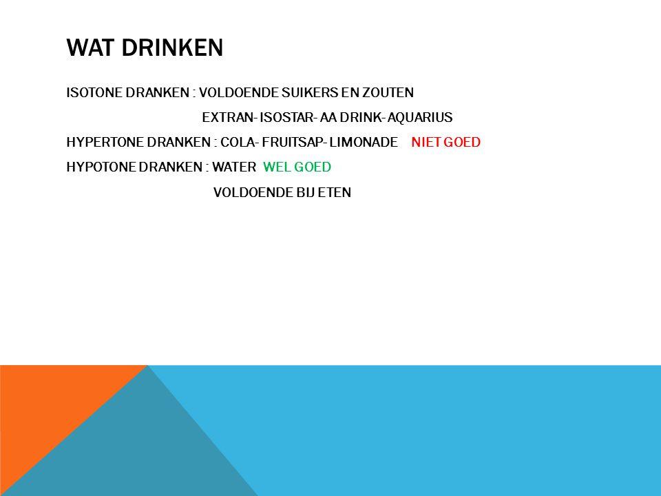 WAT DRINKEN