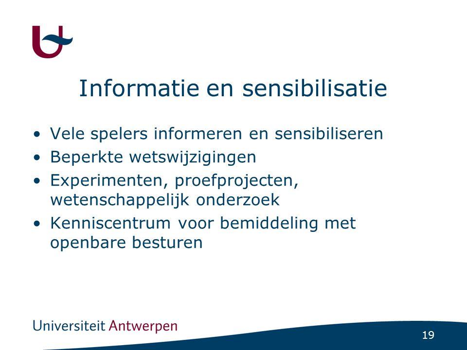 Informatie en sensibilisatie