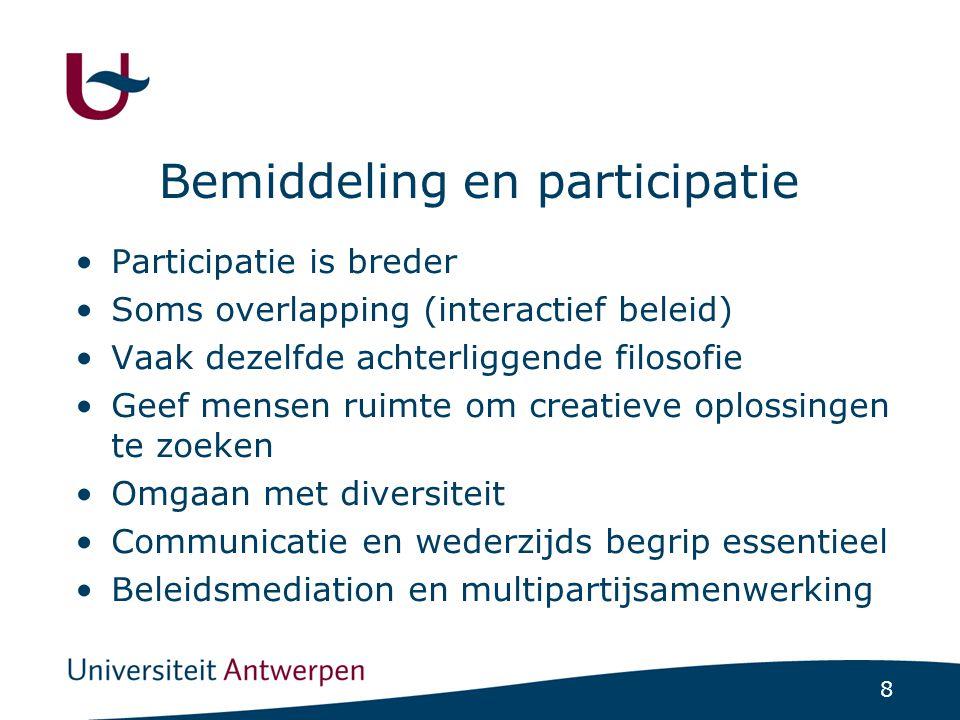 Bemiddeling en participatie