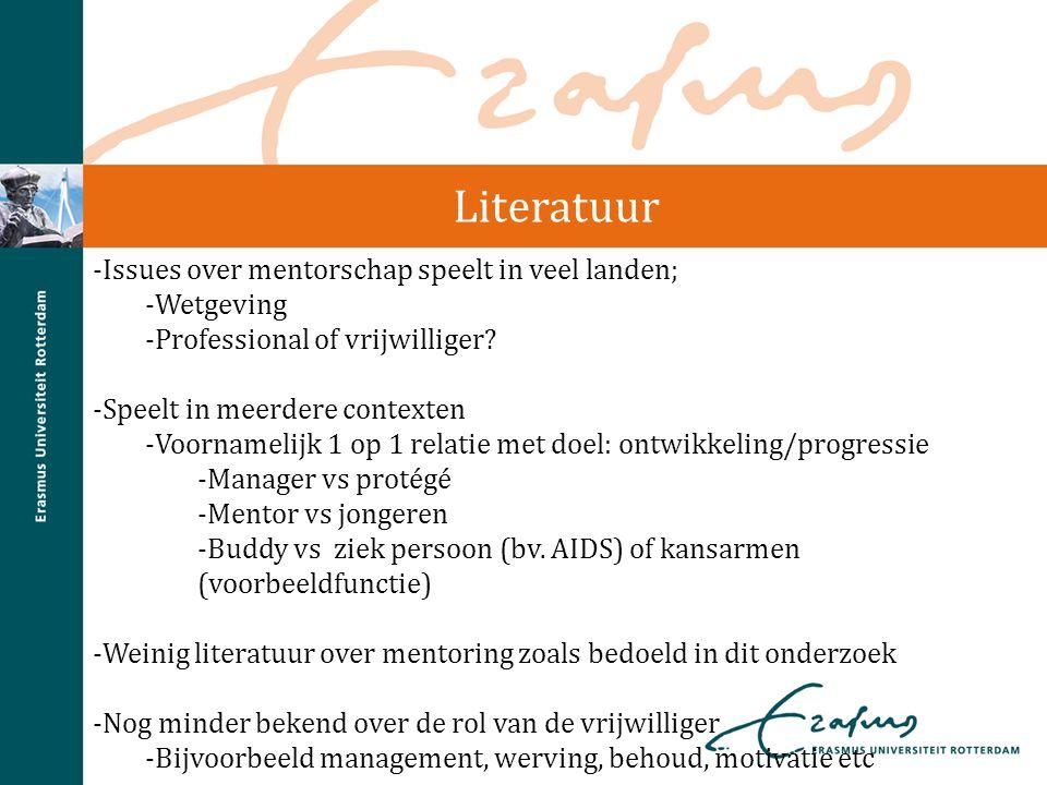 Literatuur Issues over mentorschap speelt in veel landen; Wetgeving