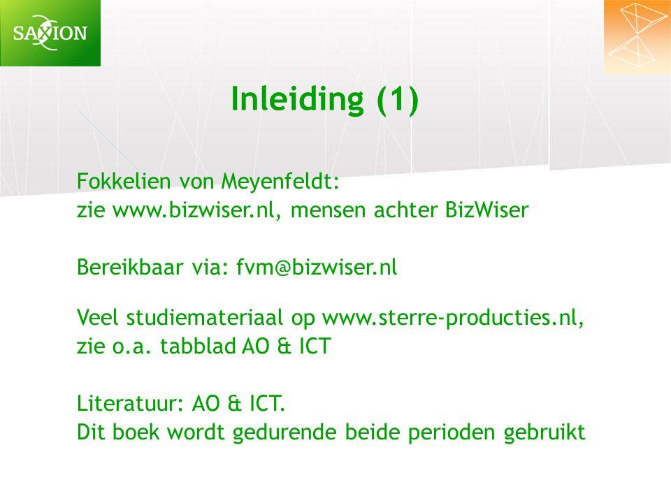 Inleiding (1) Fokkelien von Meyenfeldt: