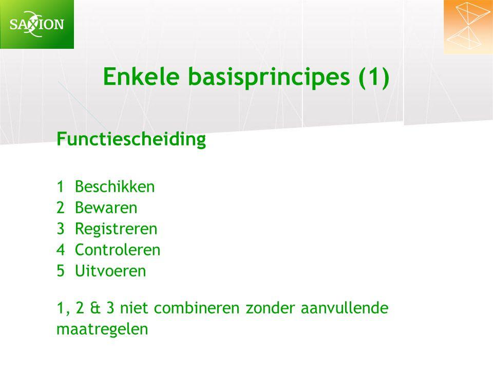 Enkele basisprincipes (1)