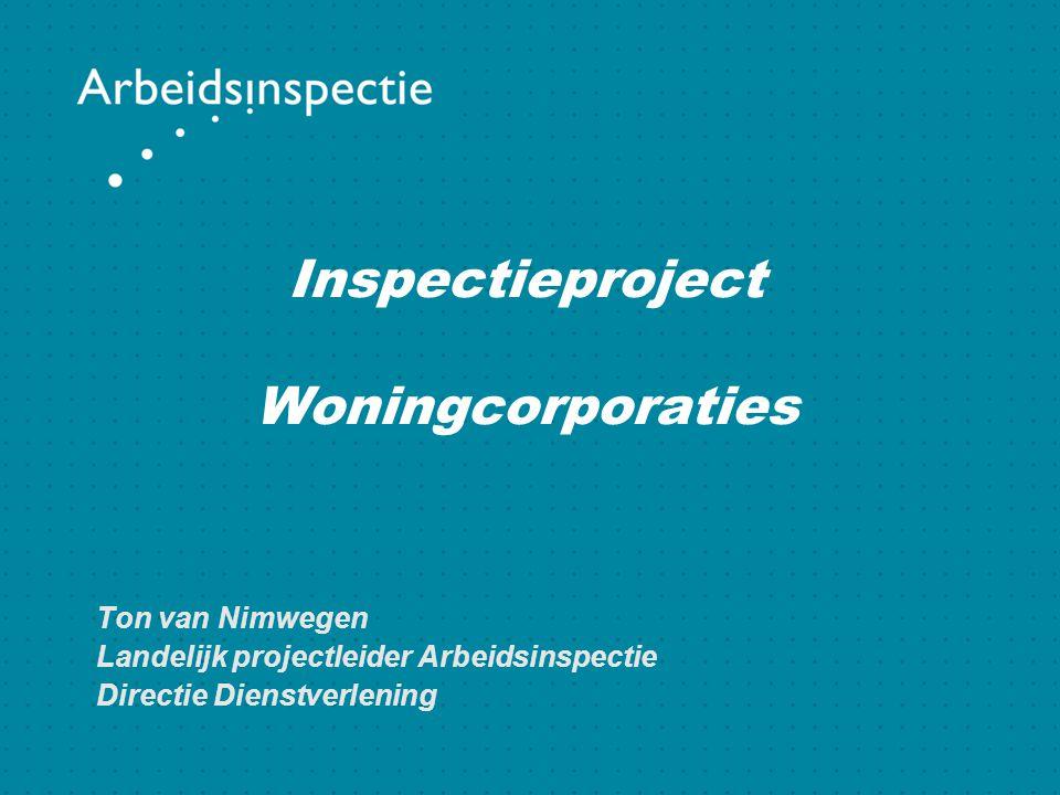 Inspectieproject Woningcorporaties