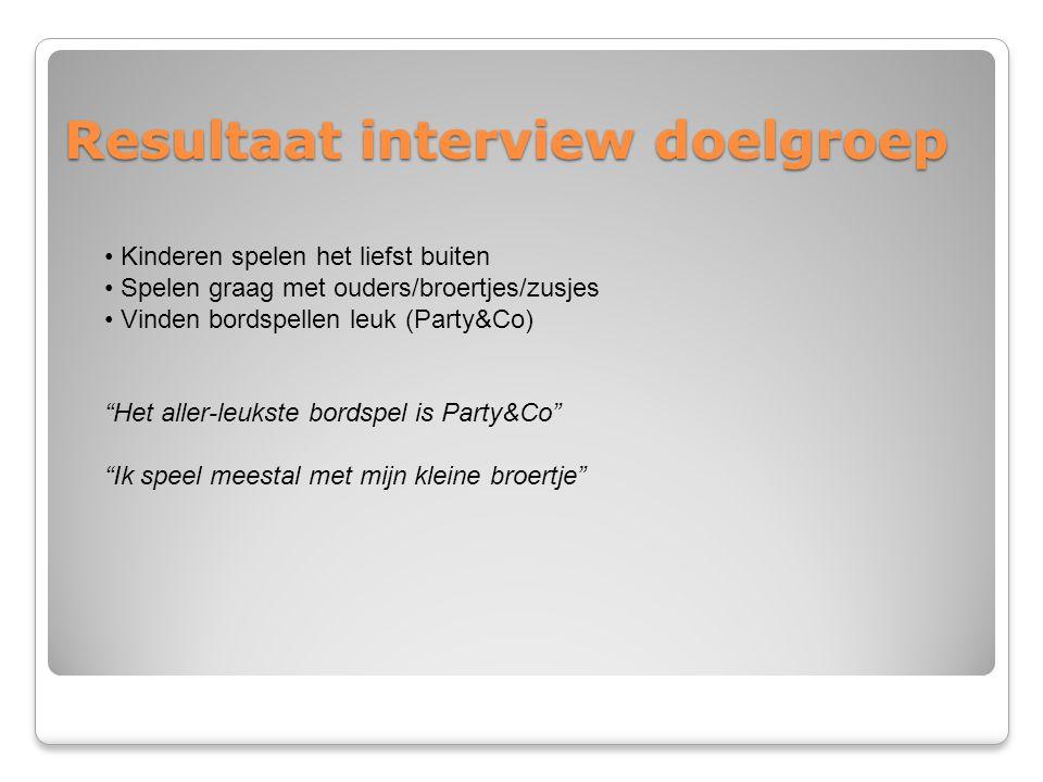 Resultaat interview doelgroep
