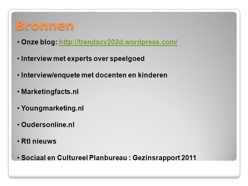 Bronnen Onze blog: http://trendscv202d.wordpress.com/