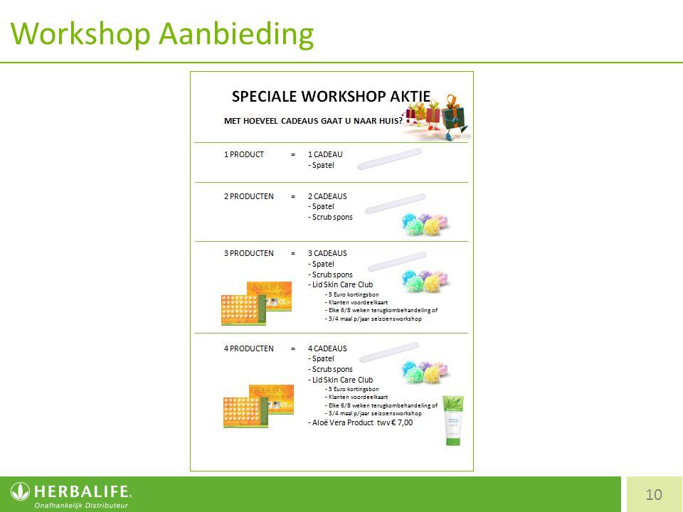 Workshop Aanbieding 10