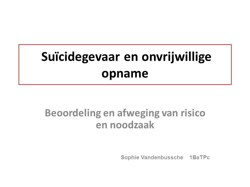Suïcidegevaar en onvrijwillige opname