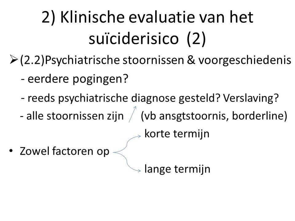 2) Klinische evaluatie van het suïciderisico (2)