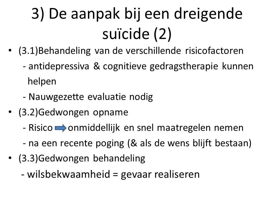 3) De aanpak bij een dreigende suïcide (2)