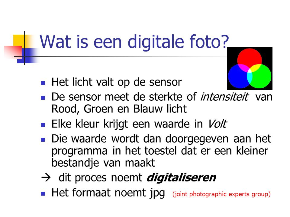 Wat is een digitale foto