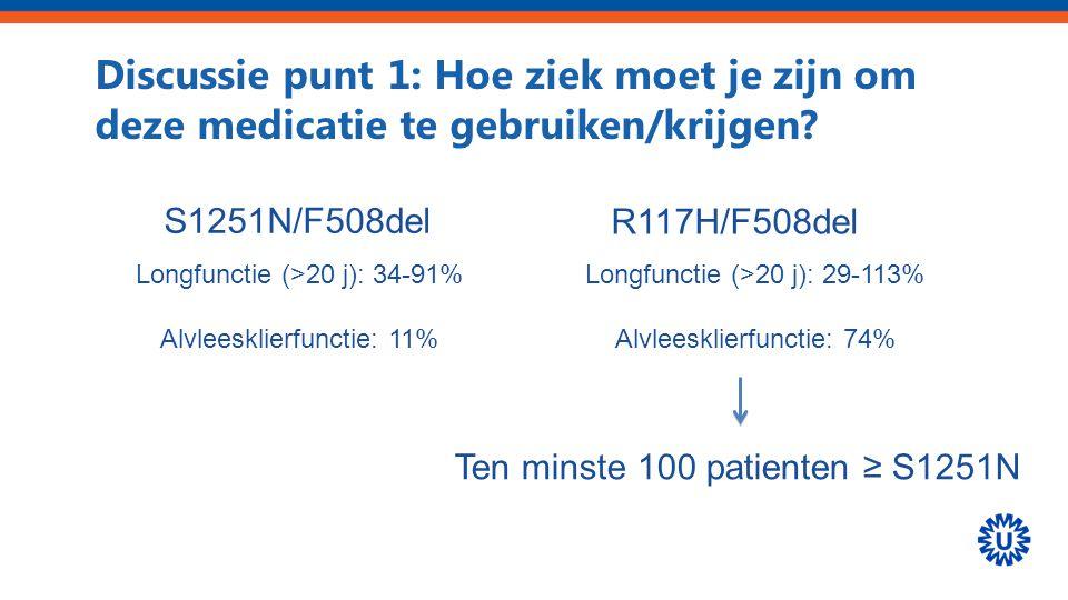 Discussie punt 1: Hoe ziek moet je zijn om deze medicatie te gebruiken/krijgen