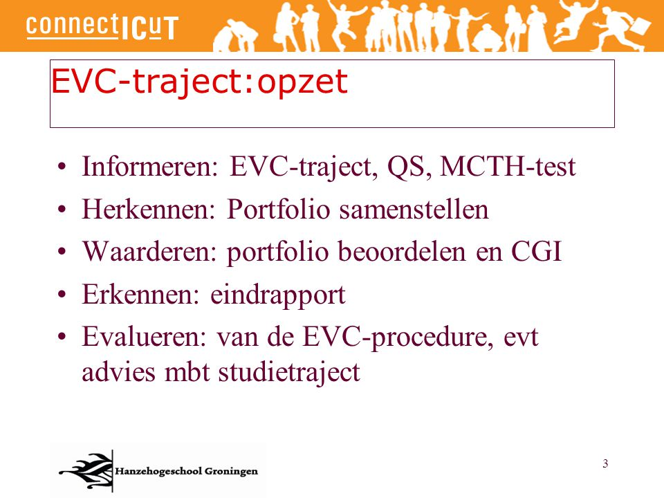 EVC-traject:opzet Informeren: EVC-traject, QS, MCTH-test