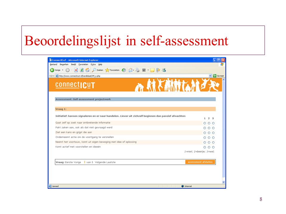 Beoordelingslijst in self-assessment