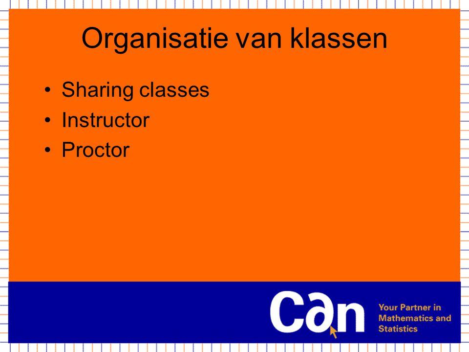 Organisatie van klassen