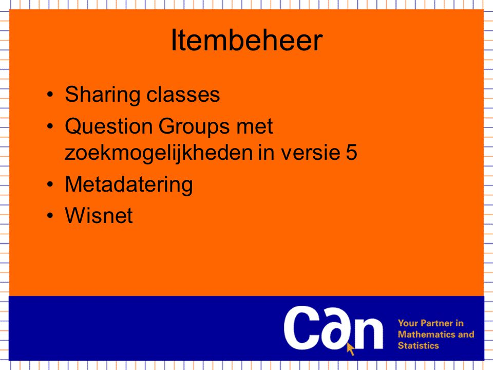 Itembeheer Sharing classes
