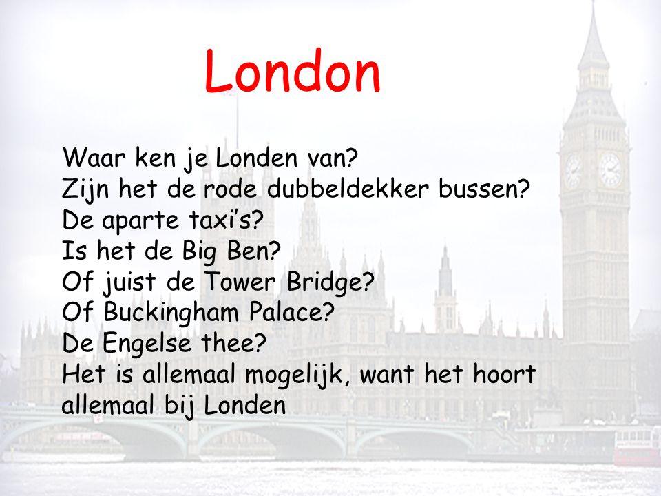 London Waar ken je Londen van Zijn het de rode dubbeldekker bussen