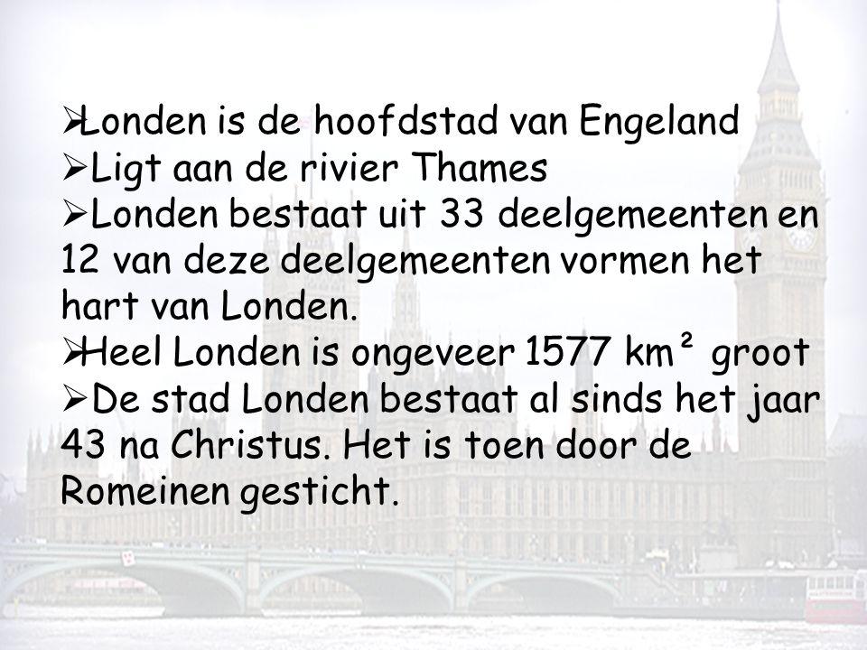 Londen is de hoofdstad van Engeland