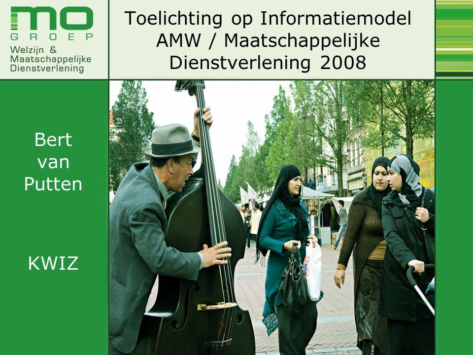 Toelichting op Informatiemodel AMW / Maatschappelijke Dienstverlening 2008