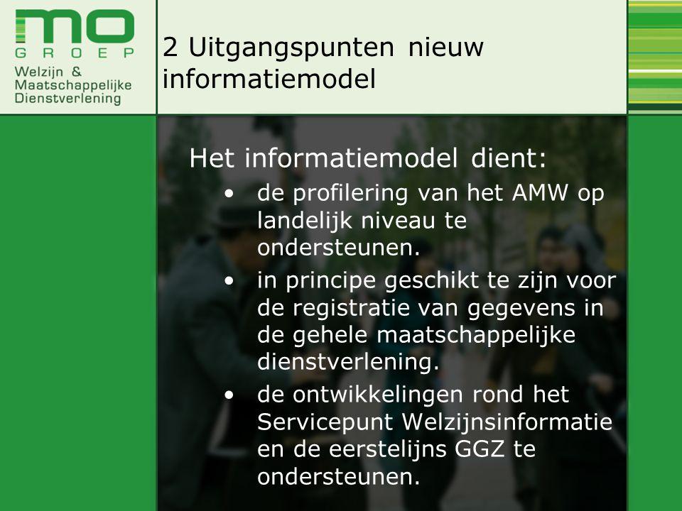 Het informatiemodel dient: