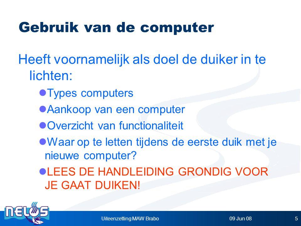 Gebruik van de computer