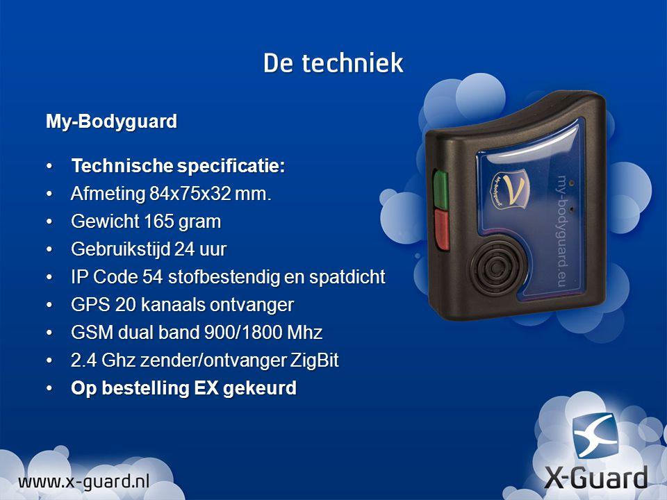 De techniek My-Bodyguard Technische specificatie: