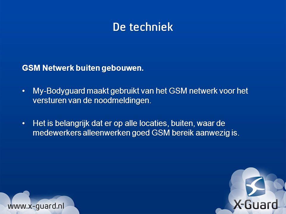 De techniek GSM Netwerk buiten gebouwen.