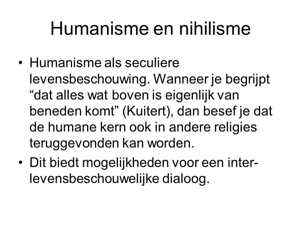 Humanisme en nihilisme