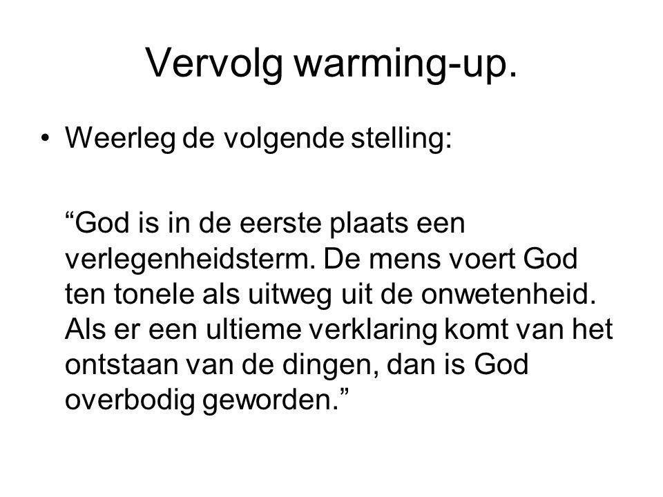 Vervolg warming-up. Weerleg de volgende stelling: