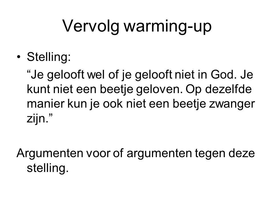 Vervolg warming-up Stelling: