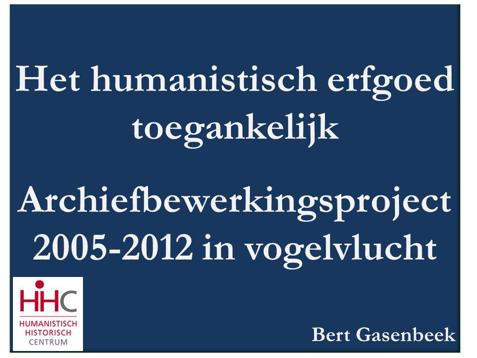 Het humanistisch erfgoed toegankelijk