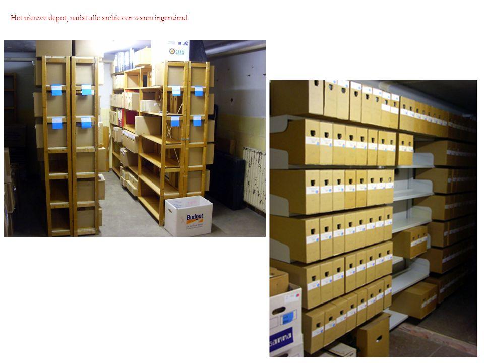 Het nieuwe depot, nadat alle archieven waren ingeruimd.
