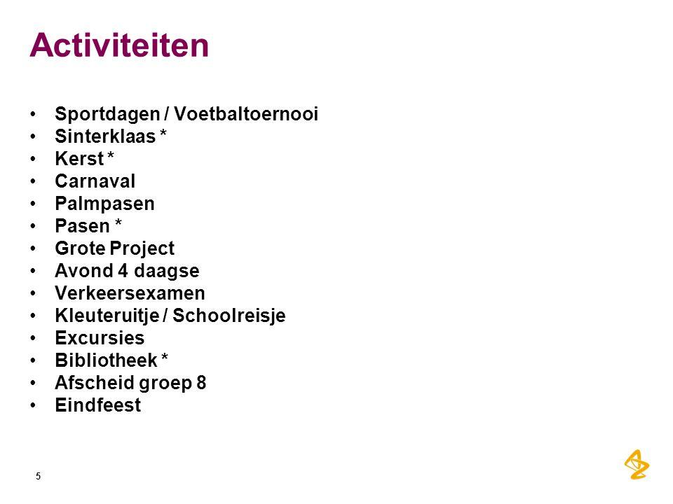 Activiteiten Sportdagen / Voetbaltoernooi Sinterklaas * Kerst *