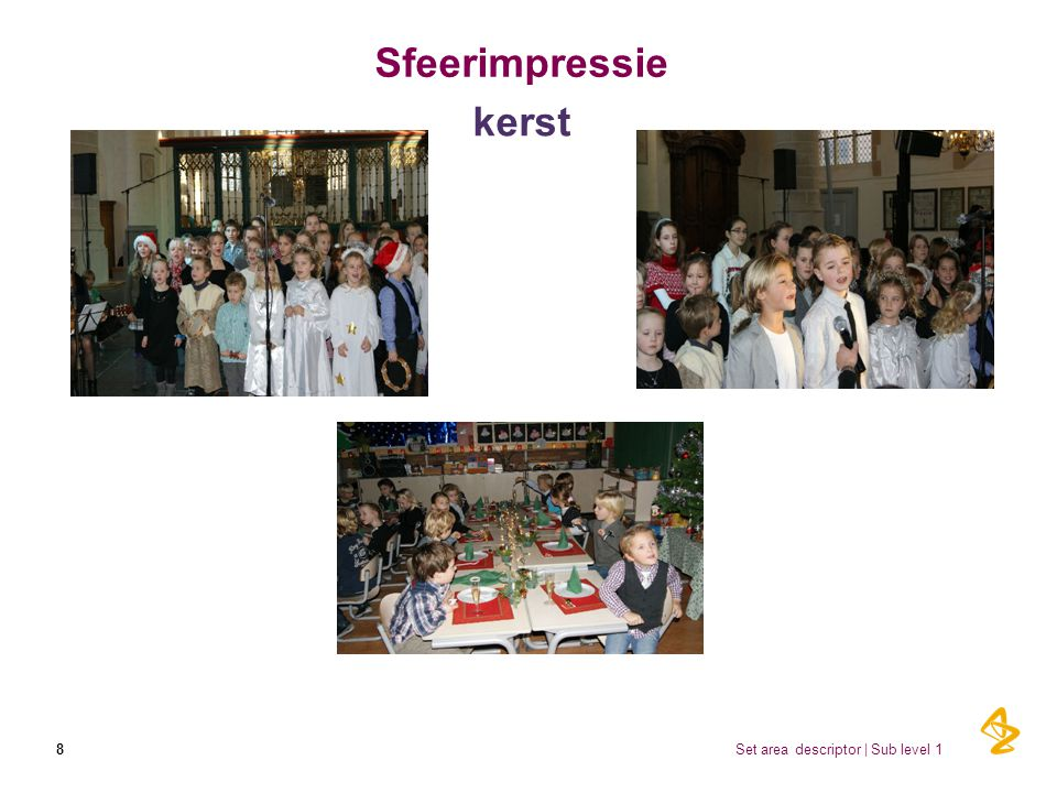 Sfeerimpressie kerst Set area descriptor | Sub level 1