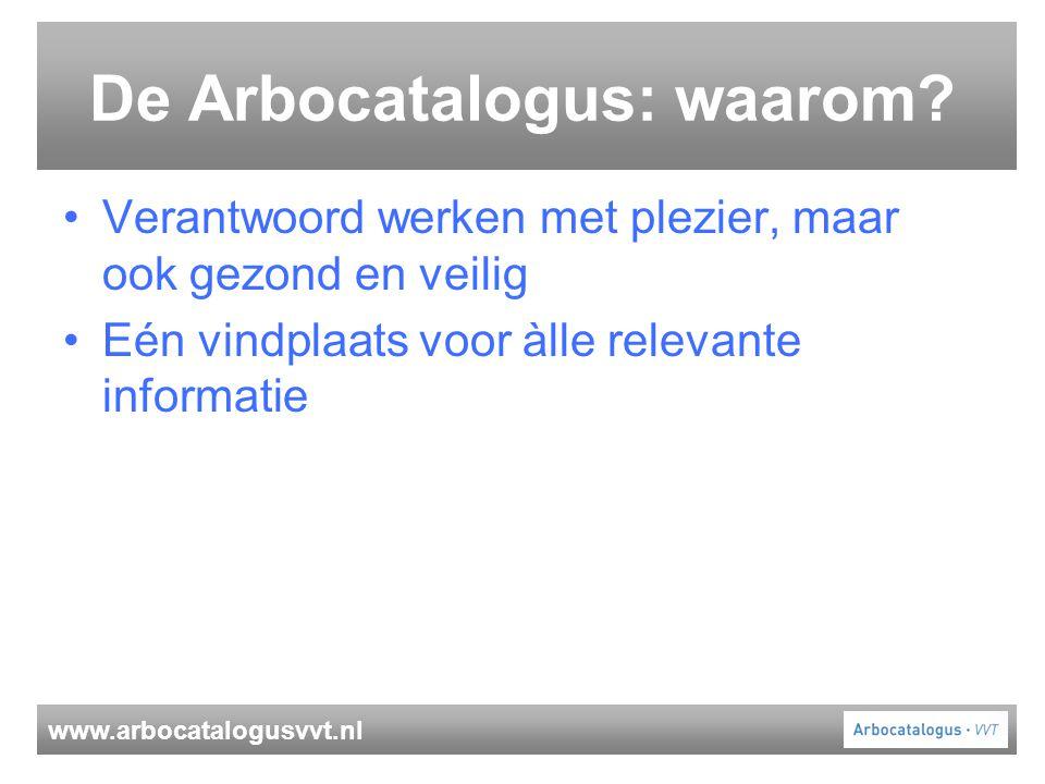 De Arbocatalogus: waarom