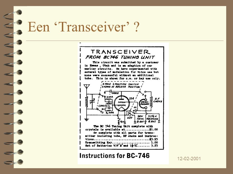 Een 'Transceiver' PA3CJL 12-02-2001