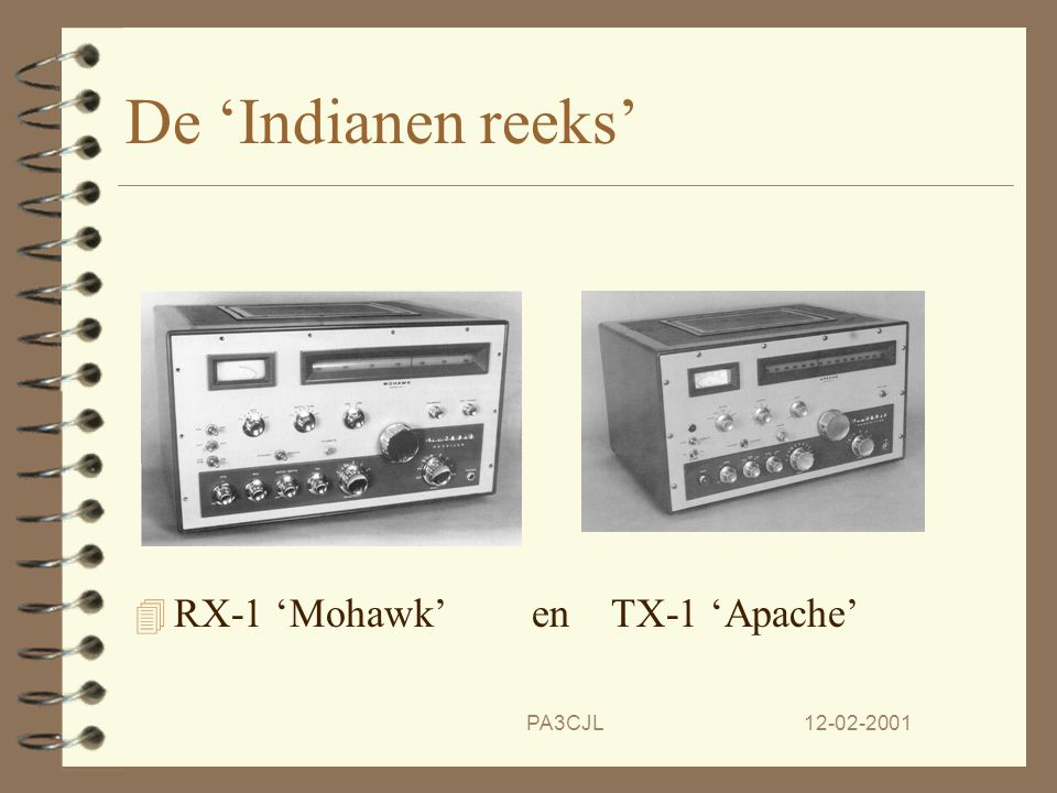 De 'Indianen reeks' RX-1 'Mohawk' en TX-1 'Apache' PA3CJL 12-02-2001