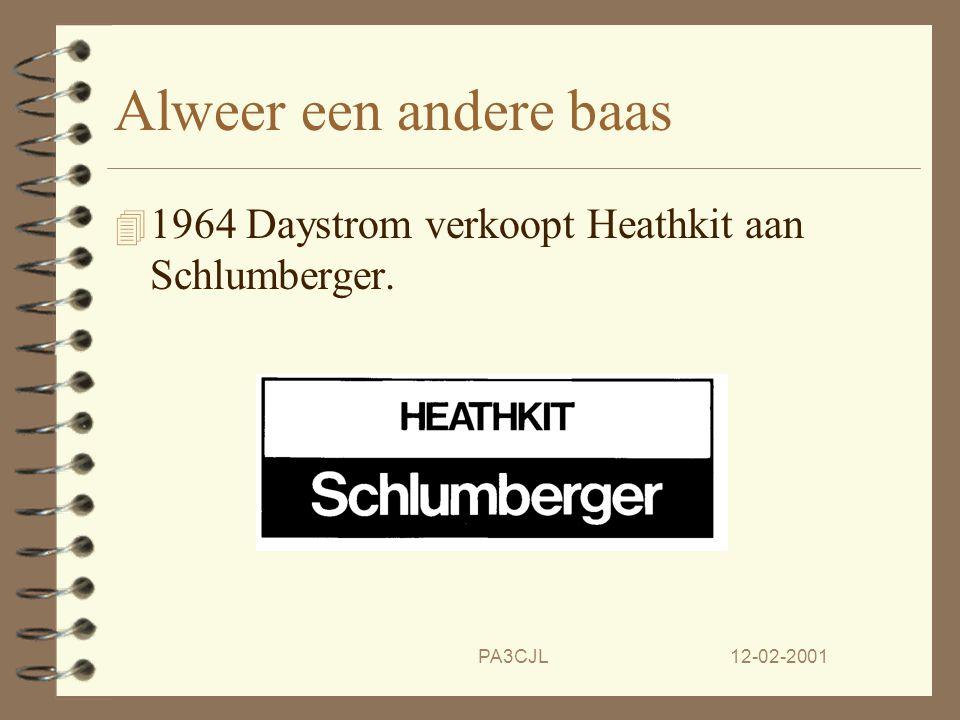 * 07/16/96. Alweer een andere baas. 1964 Daystrom verkoopt Heathkit aan Schlumberger. PA3CJL. 12-02-2001.
