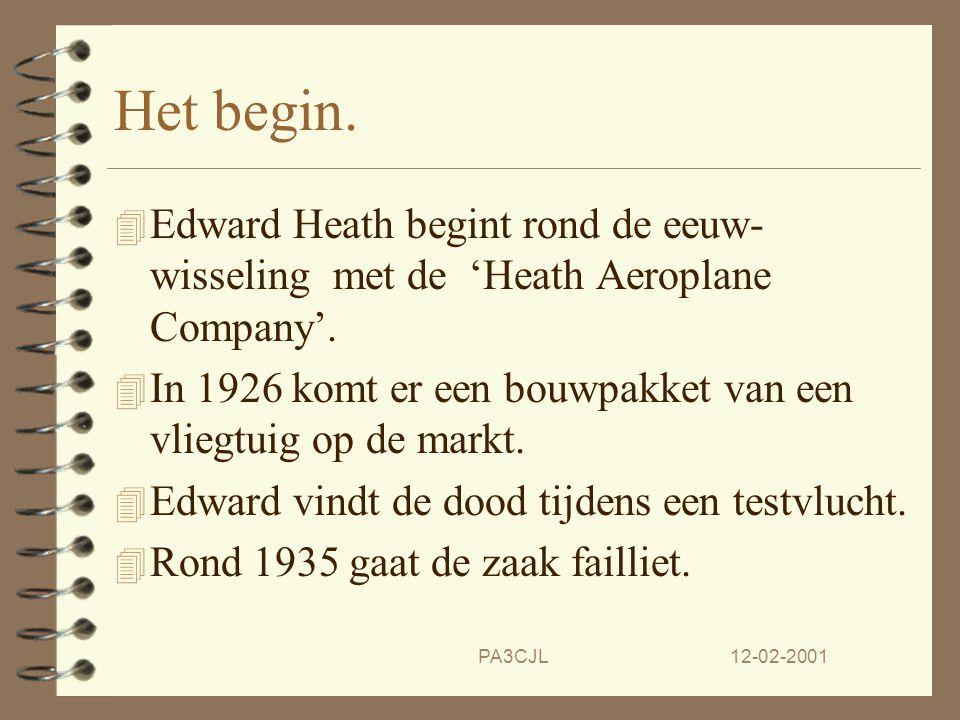 Het begin. Edward Heath begint rond de eeuw- wisseling met de 'Heath Aeroplane Company'.