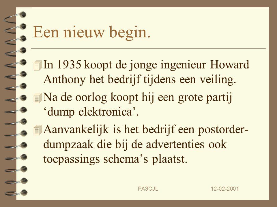 Een nieuw begin. In 1935 koopt de jonge ingenieur Howard Anthony het bedrijf tijdens een veiling.