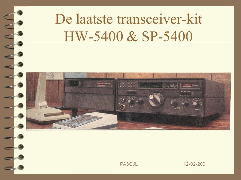 De laatste transceiver-kit HW-5400 & SP-5400