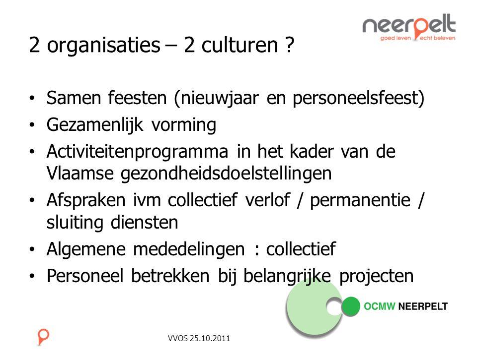 2 organisaties – 2 culturen