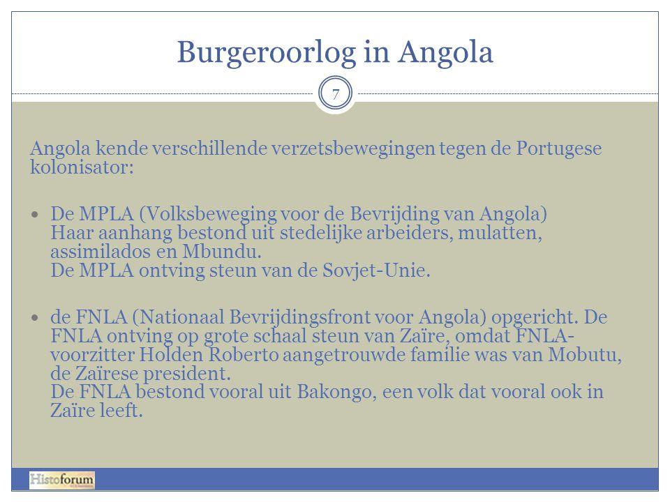 Burgeroorlog in Angola