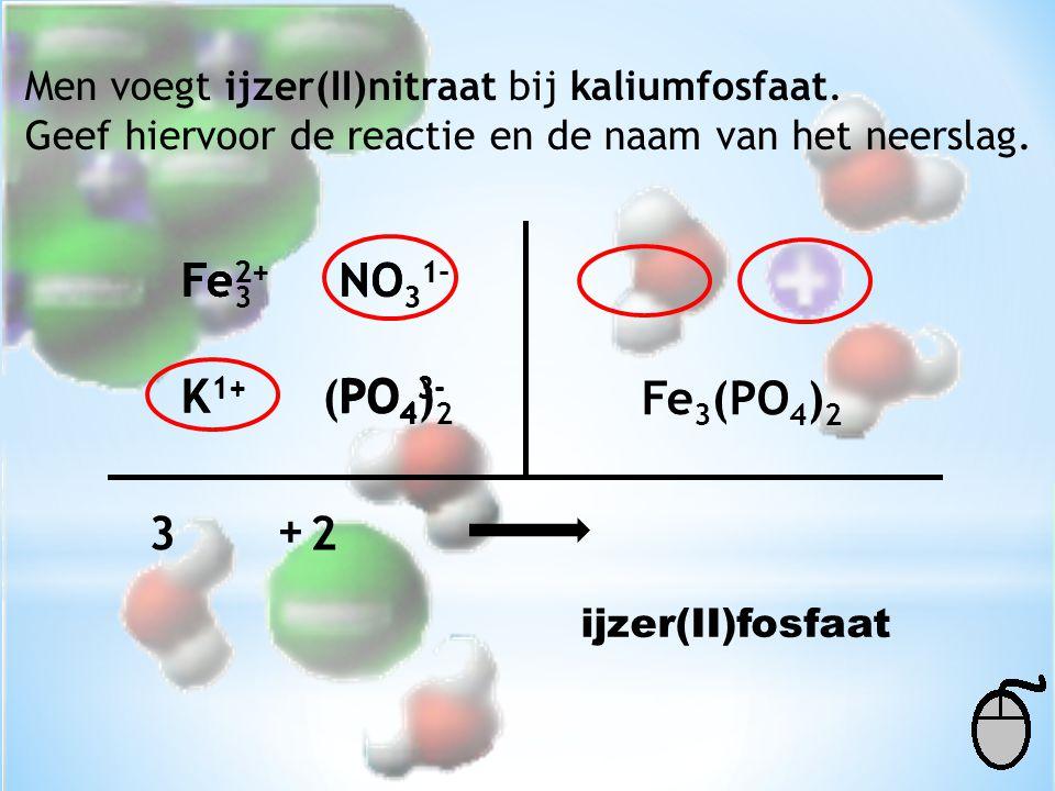 Fe3 Fe2+ Fe2+ NO31- NO31- K1+ K1+ (PO4)2 PO43- PO43- Fe3(PO4)2 3 + 2