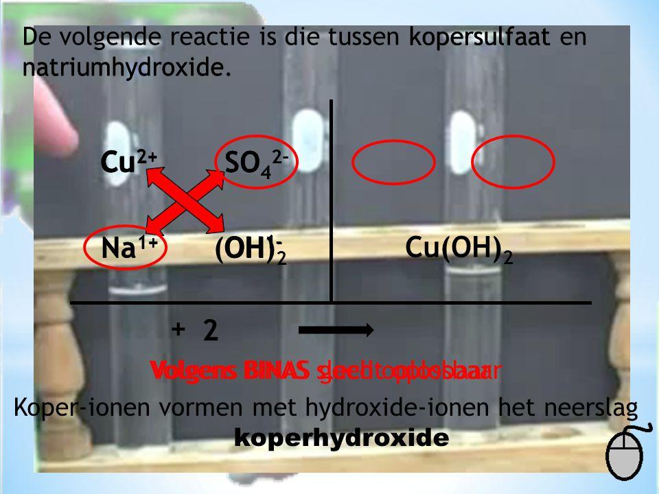 Cu Cu2+ Cu2+ SO42- SO42- Na1+ Na1+ (OH)2 OH1- OH1- Cu(OH)2 + 2