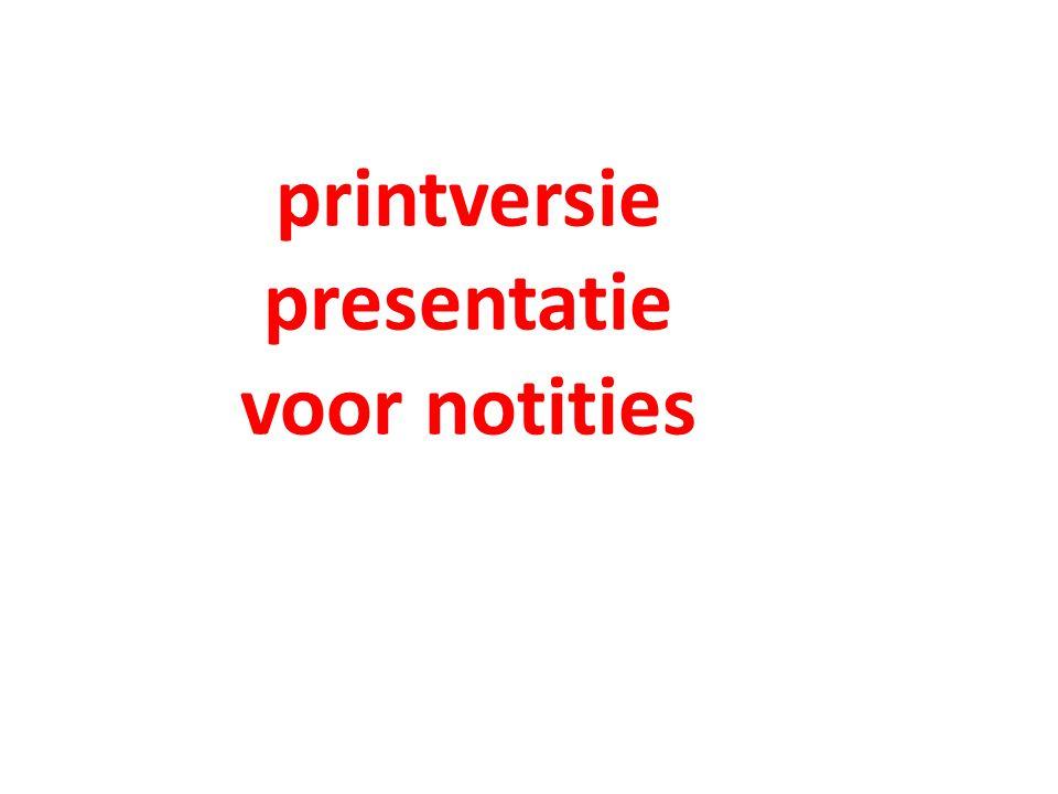 printversie presentatie voor notities