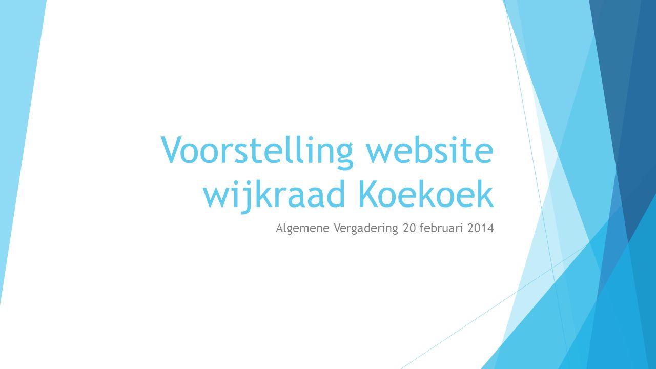 Voorstelling website wijkraad Koekoek